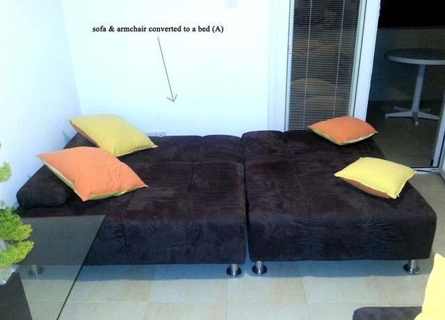 Sofa A (extra bed) in a leaving room